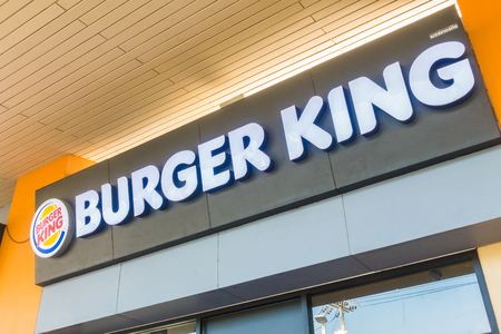 NONTHABURI , THAILAND 20 JAN 2018 Burger king is the fastfood restaurant many store in Thailand and around the world