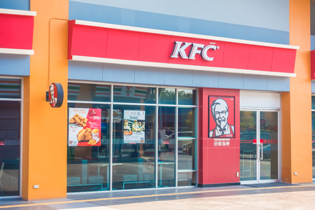 NONTHABURI , THAILAND JAN 20 2018 KFC is the fastfood restaurant many store in THAILAND and around the world
