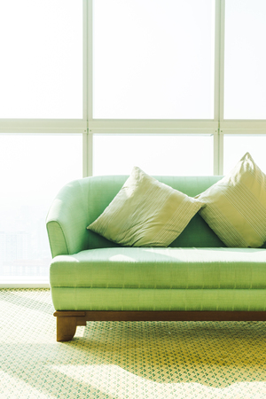 Pillow on sofa decoration in living room area