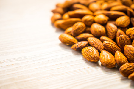 Almonds nut with copy space for text