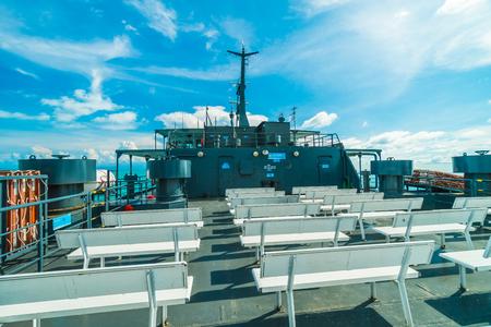 Koh Samui island , Thailand - May 22 2018 : Seatran Ferry conveying passenger from Donsak pier Surat Thani province to Koh Samui island in Thailand Editorial