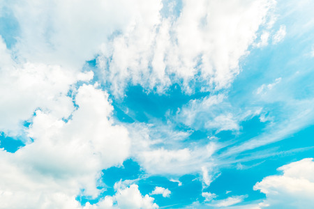 Beautiful white cloud on blue sky background Stock Photo