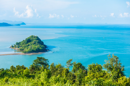 View point matsee with sea and mountain in chumphon province Thailand