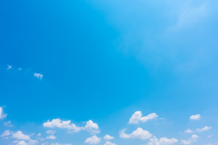 Beautiful nature with white cloud on blue sky