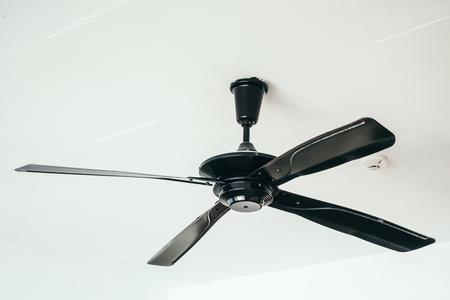 Electric ceilling fan decoration interior of room Foto de archivo