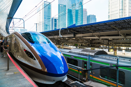 TOKYO JAPAN - 5 AUG 2018 : Train and subway station in japan is the popular transportation Редакционное