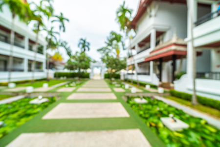 Abstract blur beautiful hotel and resort background for travel and vacation