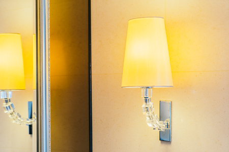 Electric light lamp on wall decoration interior of room Stock Photo - 111292776