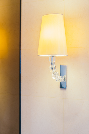 Electric light lamp on wall decoration interior of room Stock Photo - 111225985