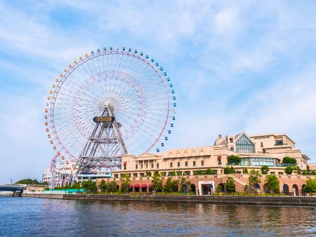 Ferris wheel in amusement park around Yokohama city Japan Editorial