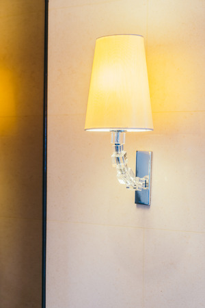 Electric light lamp on wall decoration interior of room