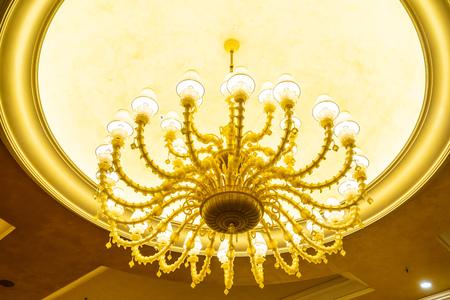 Beautiful luxury electric ceiling light lamp decoration interior of room