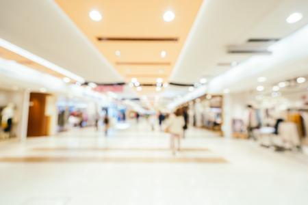 Desenfoque abstracto y centro comercial desenfocado de grandes almacenes para el fondo Foto de archivo