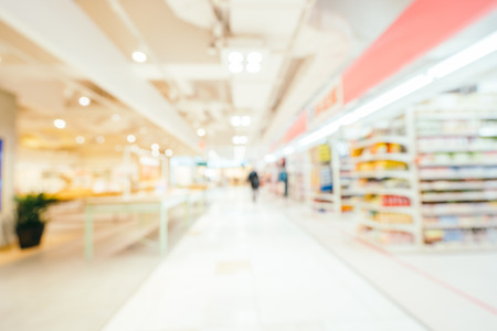 Abstract blur and defocused shopping mall of department store for background