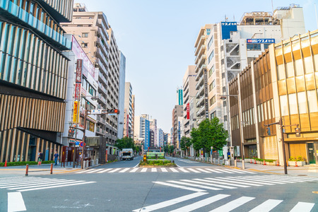 Tokyo, Japan - Aug 3 2018 : Tokyo city is the capital in japan have a lot of people , building and more Imagens - 115507712