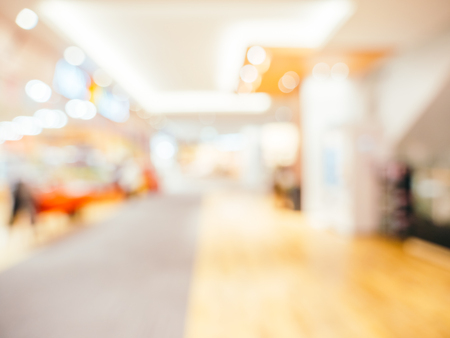 Abstract blur and defocused shopping mall of department store for background Stock Photo