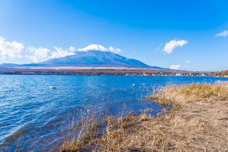 Beautiful landscape of mountain fuji around yamanakako lake Japan Stock fotó