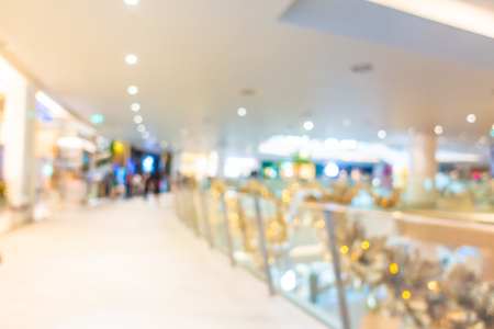 Abstract blur and defocus beautiful luxury shopping mall and retail of department store interior for background Imagens - 115468480