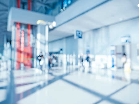 Abstract blur and defocused airport terminal interior for background Imagens - 115468568