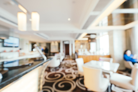 Abstract blur and defocused hotel lobby lounge interior for background Imagens