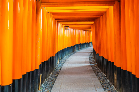Beautiful fushimi inari shrine temple in Kyoto Japan
