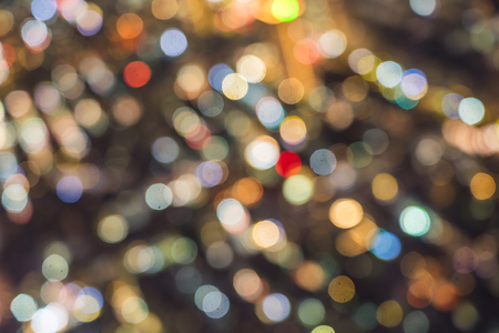 Abstract blur bokeh beautiful architecture building cityscape at night for background Imagens - 115468467