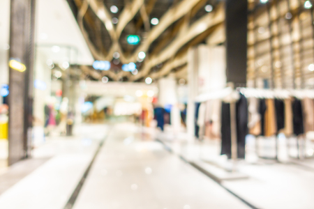 Abstract blur and defocus beautiful luxury shopping mall and retail of department store interior for background Imagens