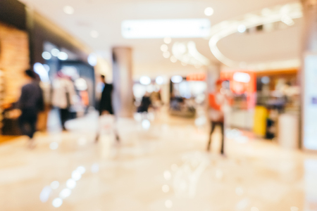 Abstract blur shopping mall of department store interior for background