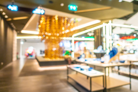 Abstract blur and defocus beautiful luxury shopping mall and retail of department store interior for background Imagens - 115468291