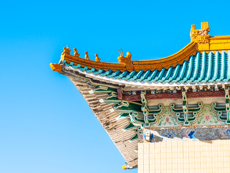 Beautiful architecture building exterior of national palace museum in taipei taiwan is the popular place for travel and sightseeing tour Reklamní fotografie