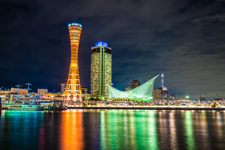 Beautiful cityscape with architecture building and kobe tower city skyline Japan 스톡 콘텐츠 - 114944530