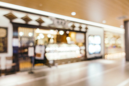 Abstract blur and defocused luxury shopping mall of department store interior for background