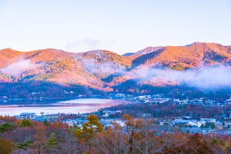 Beautiful landscape around mountain fuji in yamanakako lake Japan
