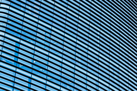 Beautiful business office building skyscraper with window glass textures for background Imagens