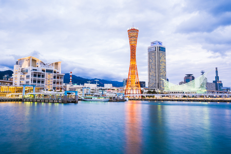Beautiful cityscape with architecture building and kobe tower city skyline Japan Stock Photo