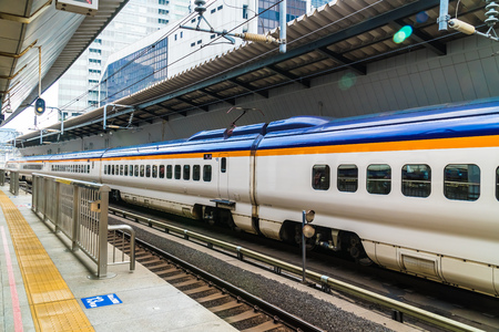 TOKYO JAPAN - 5 AUG 2018 : Train and subway station in japan is the popular transportation Фото со стока
