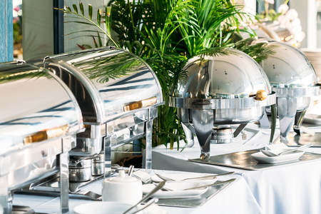Breakfast with Catering buffet in restaurant coffee shop cafe