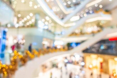 Resumen desenfoque y desenfoque hermoso centro comercial de lujo y venta al por menor del interior de la tienda por departamentos