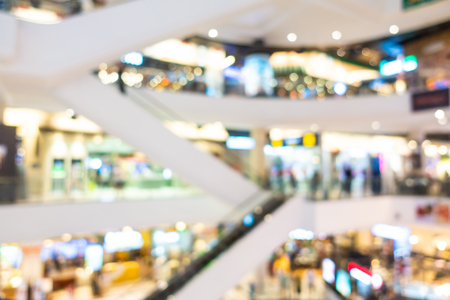Abstract blur and defocused shopping mall and retail interior of department store for background 写真素材