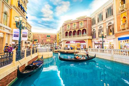 China, Macau - September 8 2018 - Beautiful luxury venetian hotel resort and casio with shopping mall in macau city Redakční