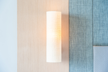 Light lamp on wall decoration interior of room Imagens