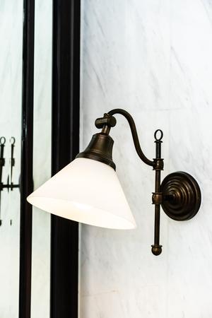 Beautiful vintage light lamp decoration interior of room Imagens