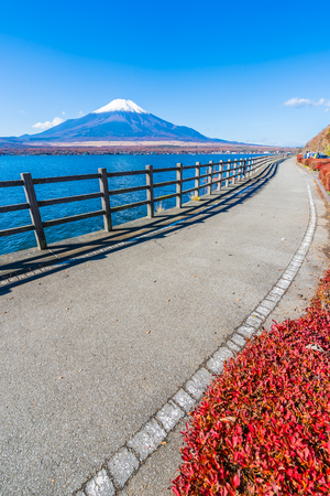 Beautiful landscape of mountain fuji around yamanakako lake Japan Imagens