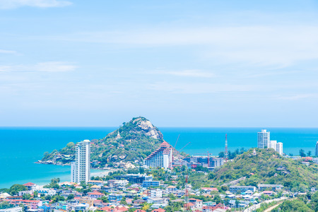 Beautiful outdoor landscape and cityscape of hua hin city in Thailand