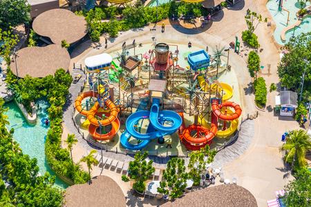 HUa hin, Thailand 30 April 2019 - Vana nava is the popular water park in hua hin city Thailand Redakční