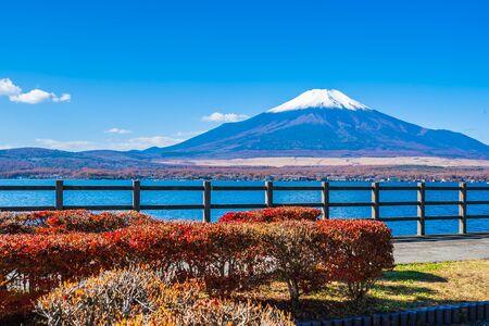 Beautiful landscape of mountain fuji around yamanakako lake Japan Reklamní fotografie - 124612841