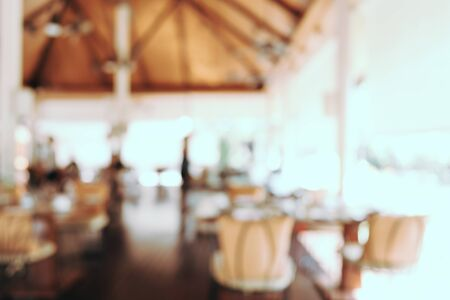 Abstract blur and defocused buffet restaurant and coffee shop cafe for background 写真素材 - 124721278