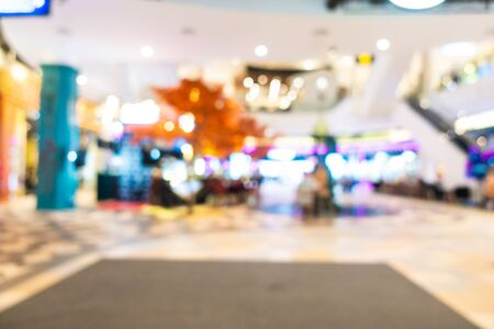 Abstract blur and defocused shopping mall and retail interior of department store for background Imagens