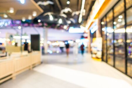 Abstract blur and defocused shopping mall and retail interior of department store Imagens - 124720954