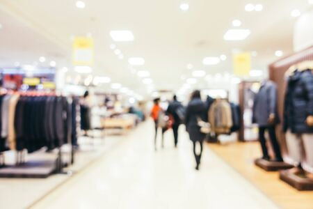 Abstract blur and defocused luxury shopping mall of department store interior Imagens - 124720935